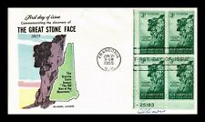 Dr Jim Stamps Us Great Stone Face Fluegel Fdc Cover Scott 1068 Sealed Block