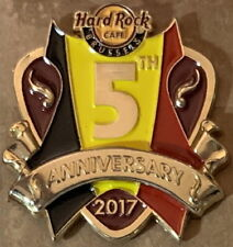 Hard Rock Cafe BRUSSELS 2017 5th Anniversary PIN Guitar Pick LE 300! HRC #95644