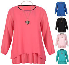 Scoop Neck Chiffon Tops & Shirts Plus Size for Women