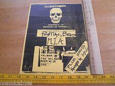 80's ORIGINAL Punk Rock concert poster Pontiac Bros MIA Gun Club CA