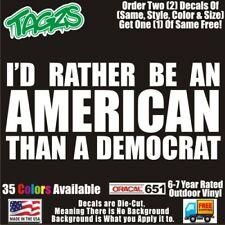 Id Rather Be An American Funny Diecut Vinyl Window Decal Sticker Car Truck Suv