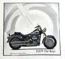 Harley Davidson FLSTF Fat Boy Motorcycle Laminated Print