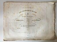 Partitura Grabado Las por la Noche De Cuadrillas G. Marcailhou Henry Lemoine XIX