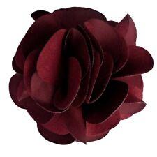 Pince à cheveux bibi broche grande fleur rouge bordeaux cérémonie soirée mariage
