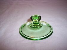 Vintage Heisey Yeoman Green Depression Glass Sugar Lid Only