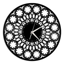 Gothic Style Vinyl Wall Clock Record Unique Gift for Friends Room Decoration