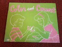 Vintage Color and Count Coloring Book Whitman Publishing 1956 Unused Racine, USA