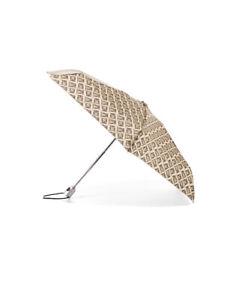 Totes Never Wet 39 Inch Coverage No Dripping Umbrella Tan Khaki Owl Print