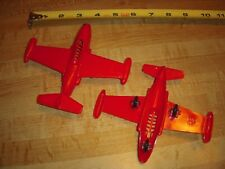 Ideal Vintage MARX Model Airplane NAVY F3B Skynight Playset Factory Stock RED