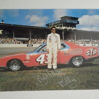 Richard Petty signed 1973 #43 STP PLYMOUTH DAYTONA  GN/WC Nascar 8x10 Photo