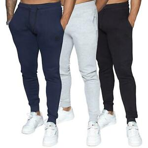 MYT Mens Joggers Cuffed Sweatpants Gym Slim Fit Fleece Jogging Bottoms Trousers