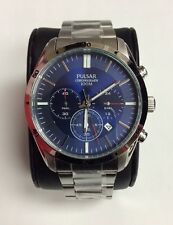 PULSAR Men's Sport Stainless Steel Blue Dial Chronograph WATCH PT3825