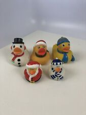 Santa and Winter Rubber Ducks 5 Pieces