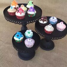 12 Inch 30 Cm Black Iron Metal Cupcake Cake Stand Wedding