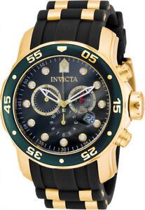 Invicta Men's Pro Diver 200m Quartz Chronograph Green Dial Watch 17886