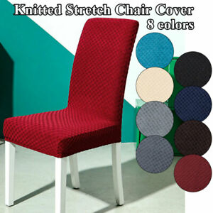 Large Size Stretch Dining Chair Covers Seat Chair Covers Removable Slip Cover A+