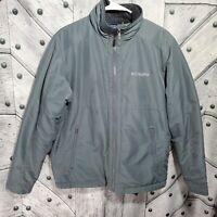 Columbia Mens Size Medium Solid Gray Full Zip Jacket Coat