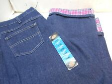 new Dickies women,s relaxed fit flannel lined 10 RG blue jeans pants