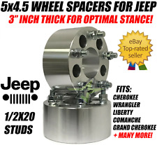 """5x4.5 Wheel Spacers 3 Inch 1/2""""-20 Studs Forged Billet 75mm 5 lug 114.3 Adapters"""