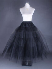 Plus size / Regular Black 3 Layers Bridal Petticoat Wedding Underskirt Crinoline