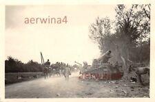 Rückstrasse franz.Schneider Artillerie Selbstfahrlafette bei Arras Frankreich