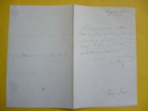 EUGENE SUE - AUTOGRAPHED  signed  LETTER