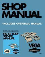 1971 Chevrolet Vega Shop Service Repair Manual Book Engine Electrical OEM