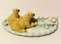 Polar Bear Mother and Cub on the Ice