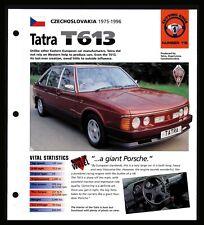Tatra T613 (Czech 1975-1996) Spec Sheet 1998 HOT CARS Cutting Edge #1.115