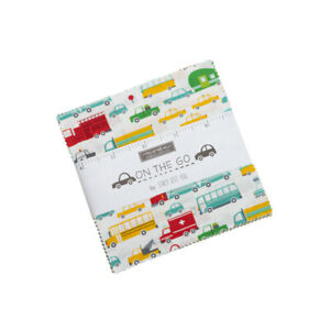 Moda Fabrics Charm Pack by Stacy Lest Hsu - On the Go. 42 x 5 inch squares