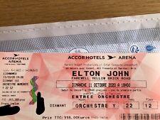 1 place en catégorie Diamant pour le concert d'Elton JOHN (Paris 11/10/2020)