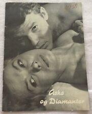Popiól i diament Zbigniew Cybulski Ewa Krzyzewska Vtg 1958 Danish Movie Program