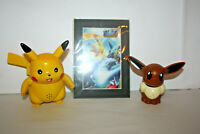 Pokemon Pikachu Trainers Choice Electronic Battle Cry & Eevee Tomy 1998