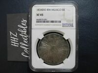 NGC Mexico 1834 8 Reales Durango Do RM Mint Silver Coin Scarce XF45