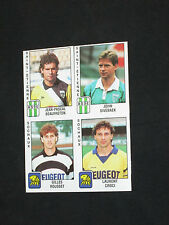 4 images stickers  panini FOOT 90  ASSE ST-ETIENNE FC SOCHAUX  1990 FOOTBALL