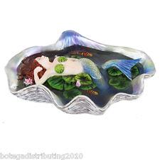 Shelia Wolk Figurine Elan Vital Pearl Shell Sirena del Mar Statue Koi Fish