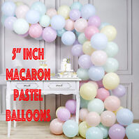 "5"" inch Small Quality Macaron Pastel balloons Round Latex Choose Colour 9 baloon"