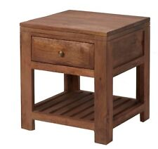 Lamp Table with one drawer Raja Light Mango Collection MM12