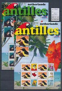 XC66006 Dutch Antilles 2006 birds animals sheets XXL MNH cv 36 EUR