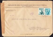 Austria - 1951 - 2 S Blue Green 40 G Green Costumes Series Censored Cover to US