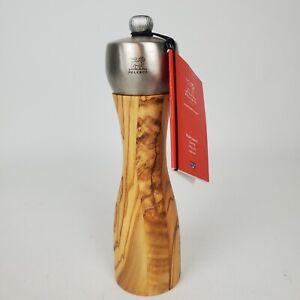 PEUGEOT 20 CM FIDJI Pepper Mill / Grinder - Olive Wood & Stainless Steel France