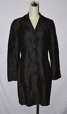 BEBE SZ 8  MEDIUM BLACK SILK JACKET COAT MADE IN US