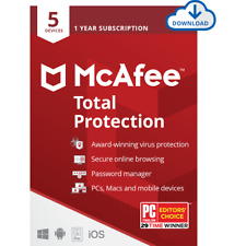 McAfee Total Protection Antivirus Digital Download - Annual Subscription