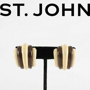 St. John Clip-On Earrings