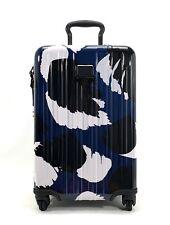Tumi V3 Expandable International Carry-On Spinner Luggage Blue Black White Congo