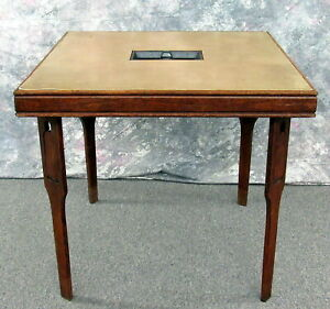 Antique Wood Card Game Folding Table by LUCE Mgr. Groton Vermont