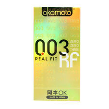 Okamoto Ultra Thin Lubricant Condoms 003 Platinum Real Fit Skinless Polyurethane