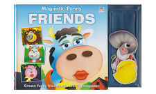 MAGNETIC FUNNY FRIENDS MAGNET BOOK CHILDRENS ACTIVITY NEW NOVELTY ANIMALS