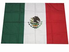 Bandiera Messico 110 cm x 140 cm cucite a mano con bandella Made in Italy