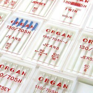 ORGAN Domestic Sewing machine Needles - Jersey, Jean, Twin, Stretch needles